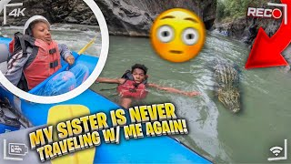 MY SISTER IS NEVER TRAVELING WITH ME AGAIN AFTER THIS! *Our Boat Sunk*
