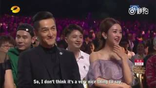 [ENGSUB] 161016 HU GE 胡歌 Introduction by MC - Golden Eagle Awards 2016