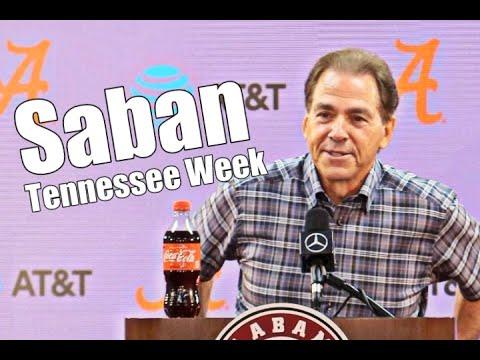 Nick Saban Press Conference: Tennessee Week, Christian Barmore, DeVonta Smith, Jeremy Pruitt