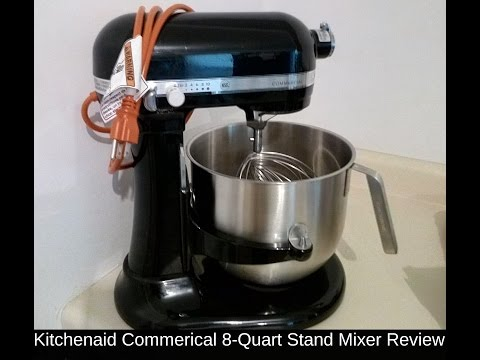 , KitchenAid KSM8990NP 8-Quart Commercial Countertop Mixer, 10-Speed, Gear-Driven, Nickel Pearl