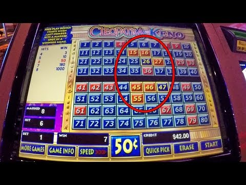 Cleopatra Keno Winning Numbers + Live Play! ( MADE PROFIT!)