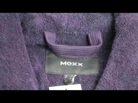 Mexx Bademantel mit Schalkragen lila