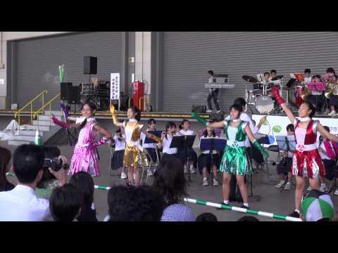 北九州市立若松中学校吹奏楽部「ひびきエコフェスタ2013」もも