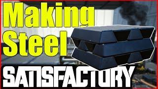 Satisfactory Ep 1 Gameplay  | Making Steel