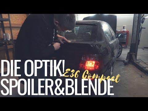 BMW E36 Compact | Wir fangen mit der Optik an! Spoilerlippe & Heckscheibenblende montieren