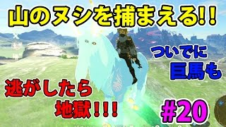 #20【ゼルダの伝説】山のヌシと巨馬を捕まえる!捕まえ損ねたら悲劇が…【実況プレイ】ブレス オブ ザ ワイルド Nintendo Switch