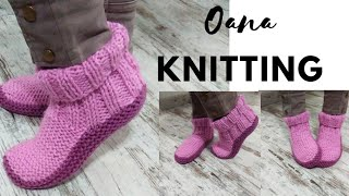 Slippers Knitted By Oana