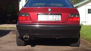 Bmw 320 e36 exhaust sound, very loud