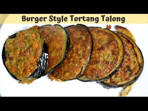 , title : 'Burger Style Tortang Talong | Fried Eggplant Recipe Eggplant Omelette