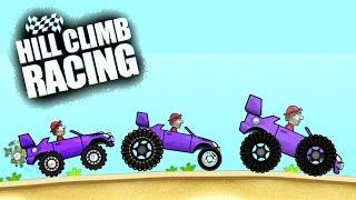 Hill Climb Racing ГАРАЖ СОЗДАЮ ТАЧКУ САМ монстры авто game kids Мультяшная игра про машинки гонки