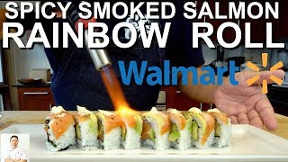 Level 2 Walmart Sushi Challenge | Spicy Smoked Salmon Rainbow Roll