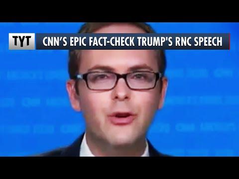 CNN's AWESOME Rapid-Fire Fact-Check Of Trump's RNC Speech