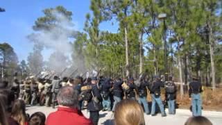 Battle of forks Road reenactment 9 - Video Youtube
