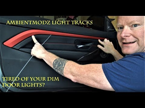 AmbientModz Light Tracks installation DIY for the BMW F32 435i