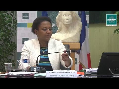 Conseil Municipal Ville de Vaulx-en-Velin vendredi 12 octobre 2018