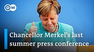 'It was a pleasure' say Chancellor Angela Merkel at her last federal press conference   DW News