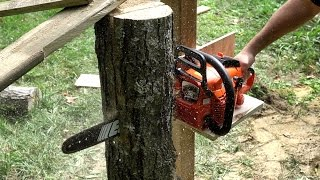 Making A Quick and Dirty VERTICAL Chainsaw Mill