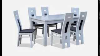Krzesła i stoły bielone