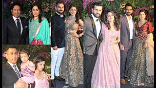 Indian Cricketers And Their Wives At Virat Kohli - Anushka Sharma Mumbai Reception