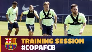 Players return to training to prepare for Copa del Rey Final