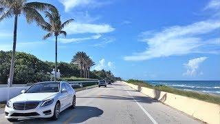 Beach Town Driving - Rich & Famous - Palm Beach Florida USA