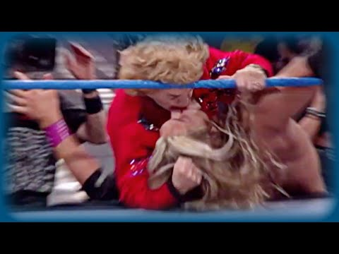 Mae Young Kisses Edge: SmackDown!, Jan. 20, 2000