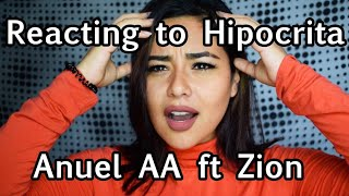 Reacting To Hipocrita by Anuel AA feat. Zion | Lali |