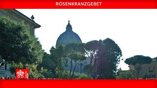 Rosenkranzgebet 31. Mai 2021 Papst Franziskus