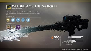 Getting the hidden Whisper of the Worm Exotic!