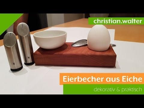 Eierbecher aus Holz (Eiche) | Deko und praktisch