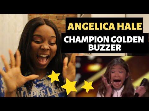 ANGELICA HALE - GOLDEN BUZZER!  - America's Got Talent: The Champions - REACTION | #ibukola (видео)