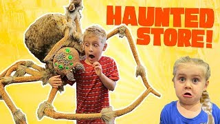 Haunted Store! Scary Halloween Costume Shopping with the KIDS at 3 pm!