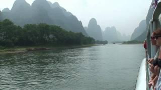Video : China : Li River 漓江 cruise, GuangXi province