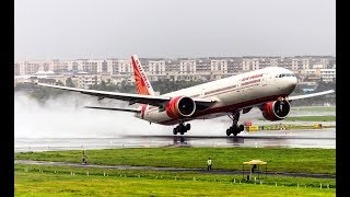 Closest Ever Plane Spotting | Monsoon Arrival & Departures | Mumbai Airport | 4k Ultra HD Video