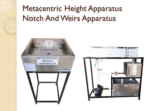 Notch and Weir Apparatus