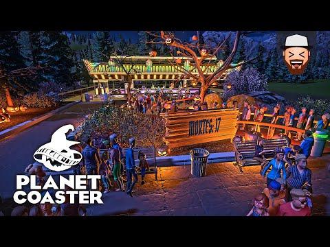 O Primeiro Brinquedo do Parque Assustador Planet Coaster Halloween 02 Gameplay pt br
