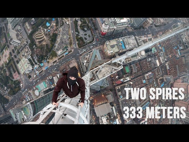 مغامران يتسلقان برجا بطول 80 متر فوق ناطحة سحاب