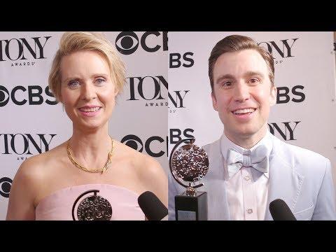 Cynthia Nixon, Gavin Creel, Michael Aronov, and More Show Off Brand-New  Tonys by TheaterMania