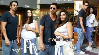 Arjun Rampal With PREGNANT G!rlfriend Gabriella Demetriades Snapped Todat Outside SEQUEL MUMBAI