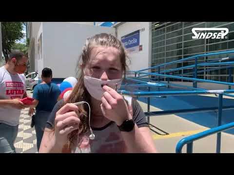 Sindsep participa de novo protesto contra a entrega da UBS Santa Cecilia