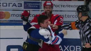 Major KHL Fight: Lokomotiv vs SKA