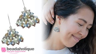 How to Make the Tulum Earrings with Cymbals and SuperDuo Bead Mixes