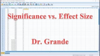 Significance vs. Effect Size for One Way ANOVA using SPSS