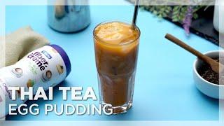 FiberCreme_TV - Thai Tea Egg Pudding