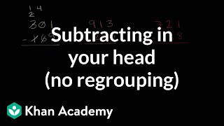 Mental Technique for Subtraction Without Regrouping