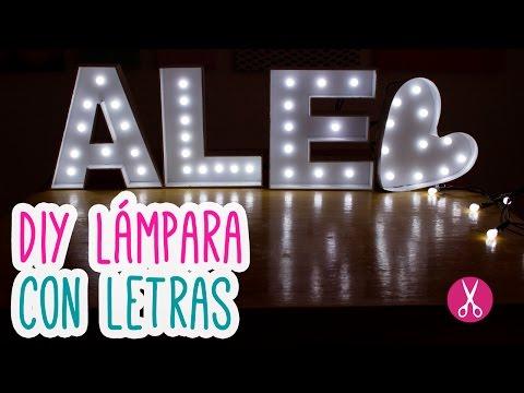 7 t cnicas para decorar letras manualidades - Letras luminosas decoracion ...