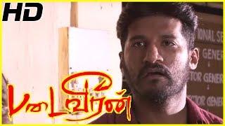 Padaiveeran   Padaiveeran full movie scenes   Vijay Yesudas decides to become Police