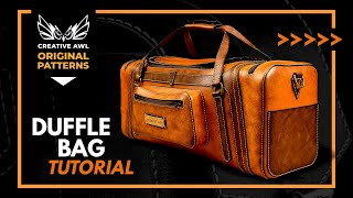 How To Make LEATHER TRAVEL BAG