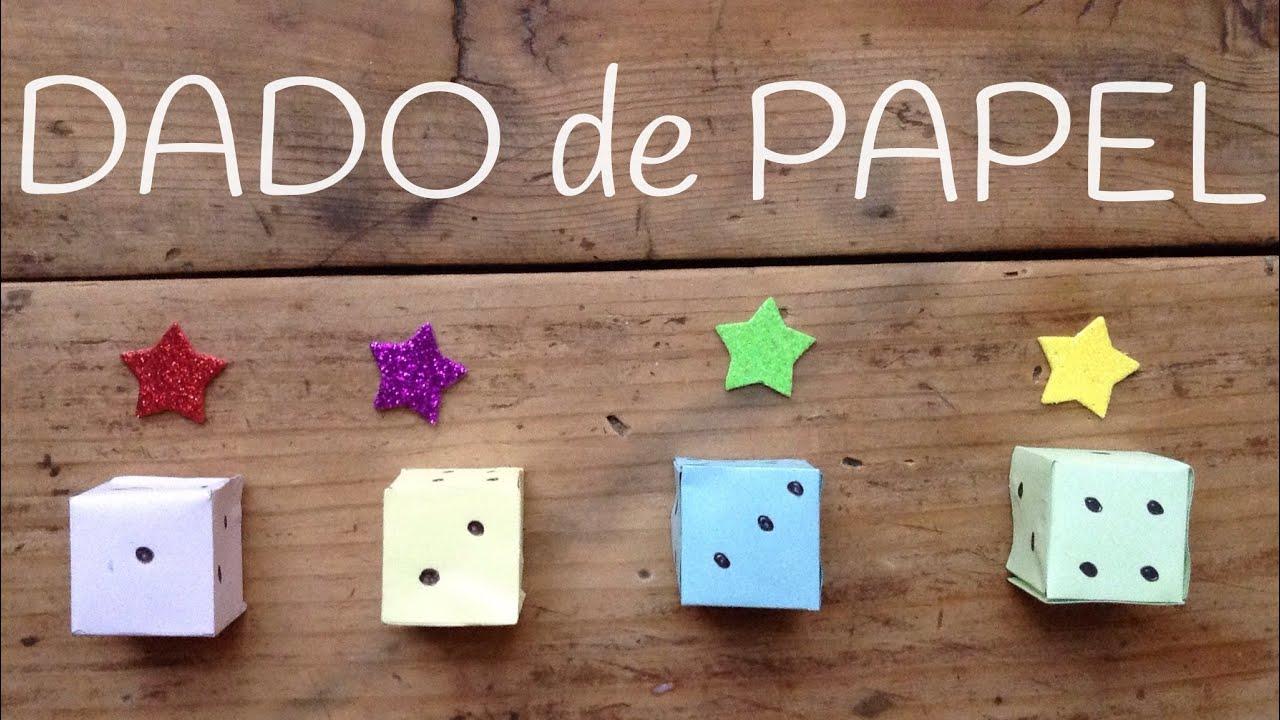 Como hacer DADO de papel |  Manualidades para jugar