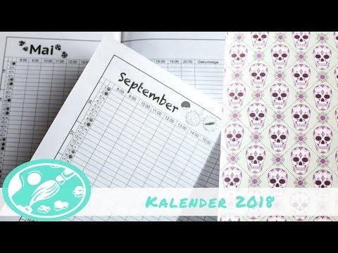 Kalender 2018 - PDF zum ausdrucken, Heft selber binden, DIY